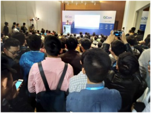 ▲ QCon 北京站·火爆的融云演讲现场
